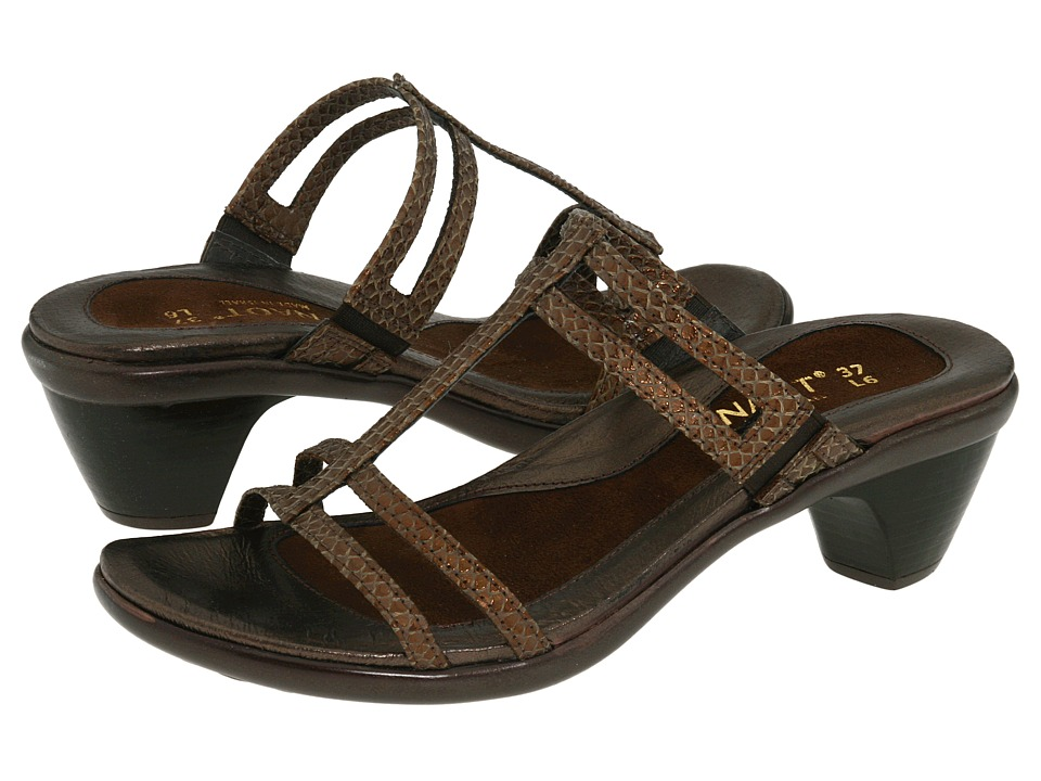 Naot Footwear - Loop (Brown Lizard Leather) Women's Sandals