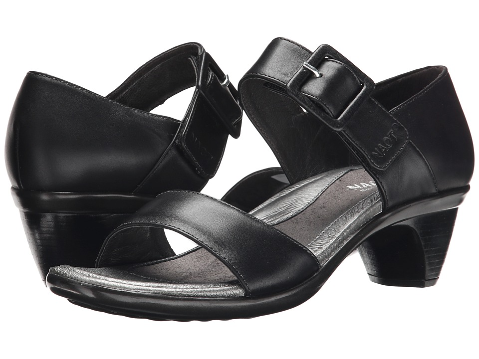 Naot Footwear - Future (Black Raven Leather) Women's Dress Sandals