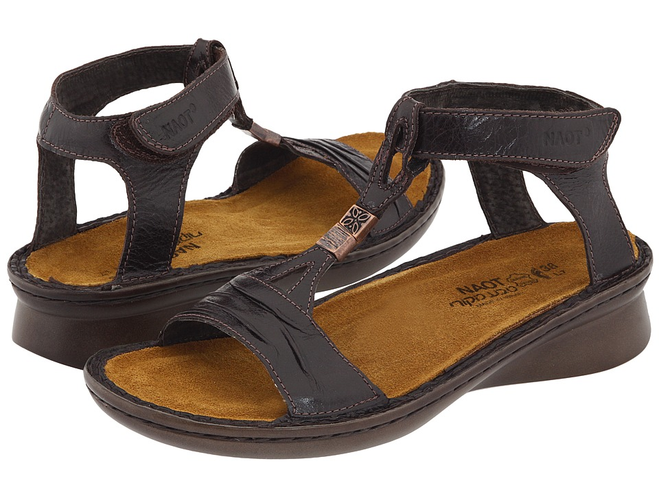 Naot Footwear - Cymbal (Espresso Leather) Women's Sandals