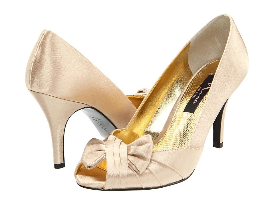 Nina - Forbes (Gold Royal Satin) Women's Slip-on Dress Shoes
