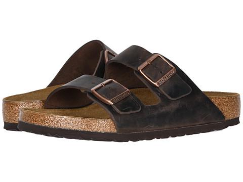 K330ZLzxaE Mens Arizona Oiled Leather Buckle Sandals Mens Shoes