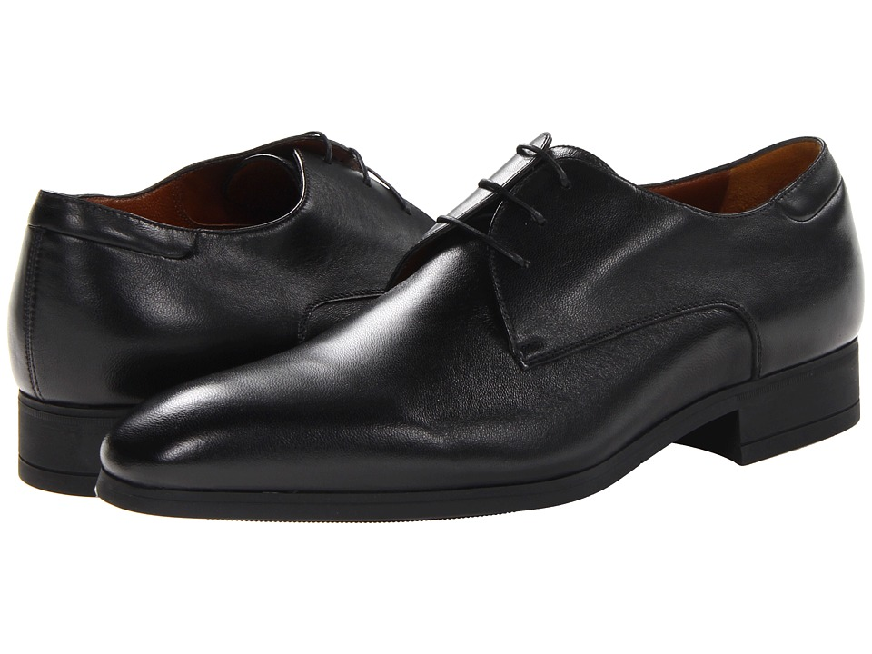 a. testoni - Plain Toe Lace Up Oxford (Nappa Nero) Men's Plain Toe Shoes