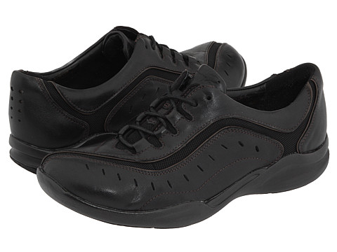 Clarks - Wave.Wheel (Black Leather) Women