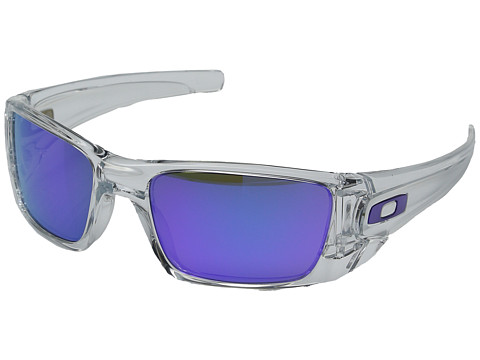 Oakley - Fuel Cell (Polished Clear/Matte Clear/Violet Iridium Lens) Sport Sunglasses