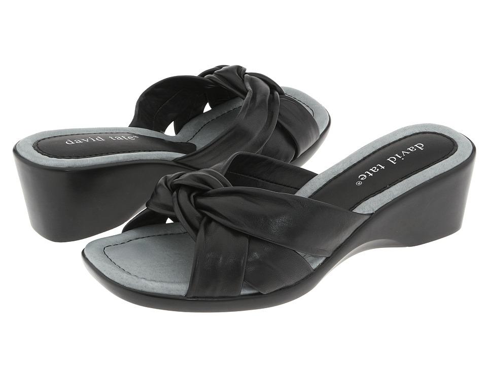 David Tate - Cabo (Black Lamb) Women's Wedge Shoes