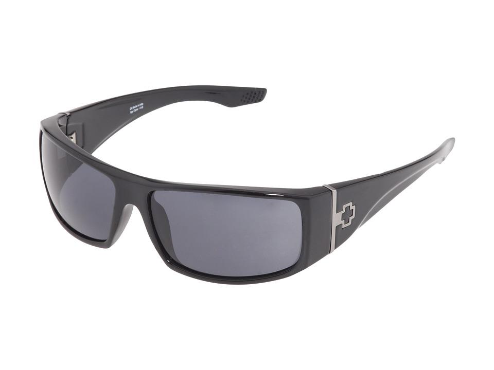 Spy Optic Cooper XL (Black Shiny/Grey Lens) Sport Sunglasses
