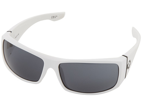 Spy Optic - Cooper XL (White/Grey Lens) Sport Sunglasses