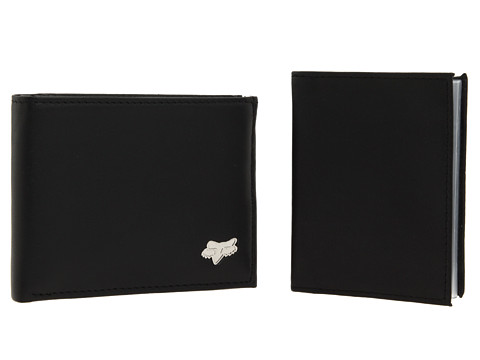 Fox - Bifold Leather Wallet (Black) Bi-fold Wallet