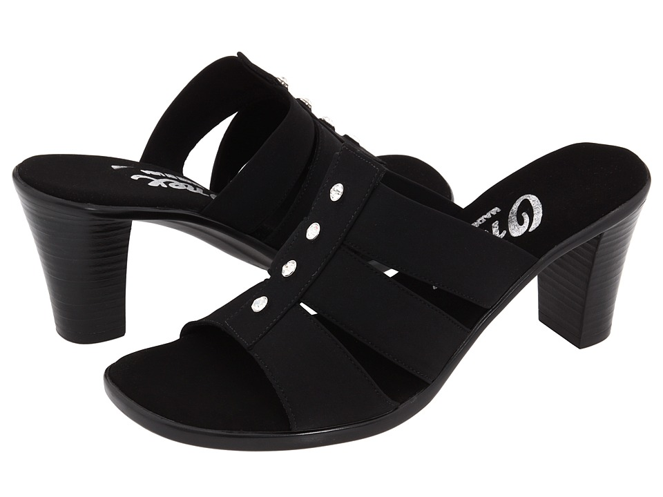 Onex - Aimee (Black Elastic) Women's Sandals