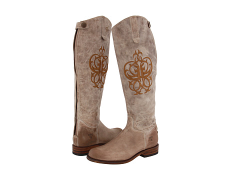 Frye - Riding Back Zip (Taupe) Women's Zip Boots