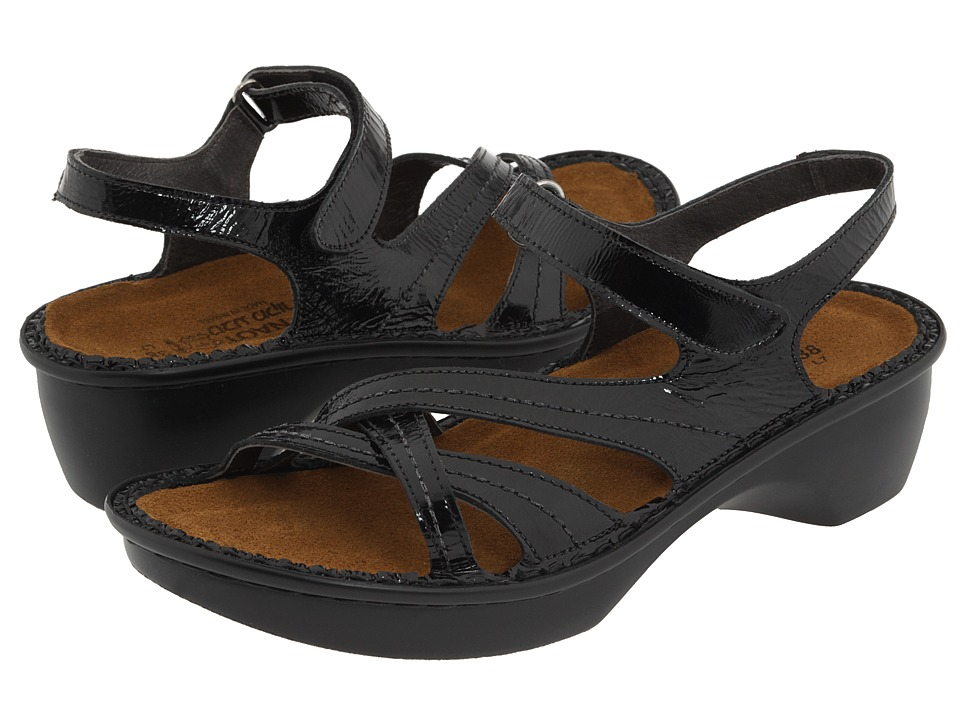 Naot Footwear - Paris (Black Patent Leather) Women's Sandals