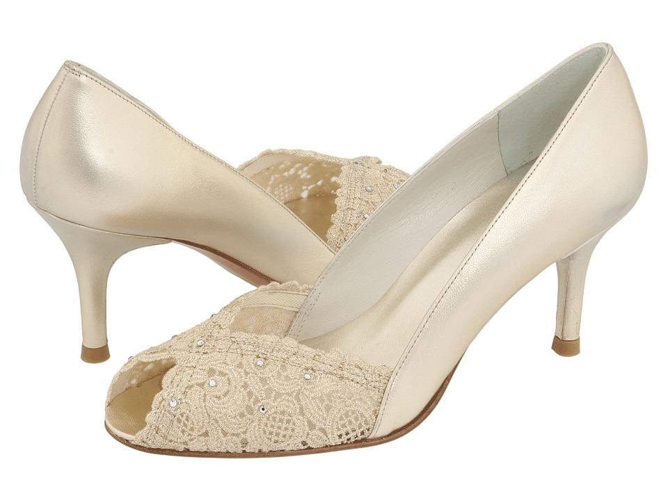 Stuart Weitzman Bridal & Evening Collection - Chantelle (Gold Chantilly Lace) High Heels