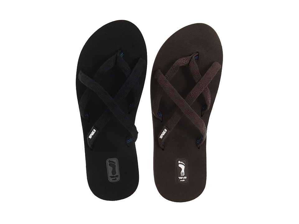 Teva - Olowahu 2-Pack (Mixed Black On Black/Mixed B Braken) Women's Sandals