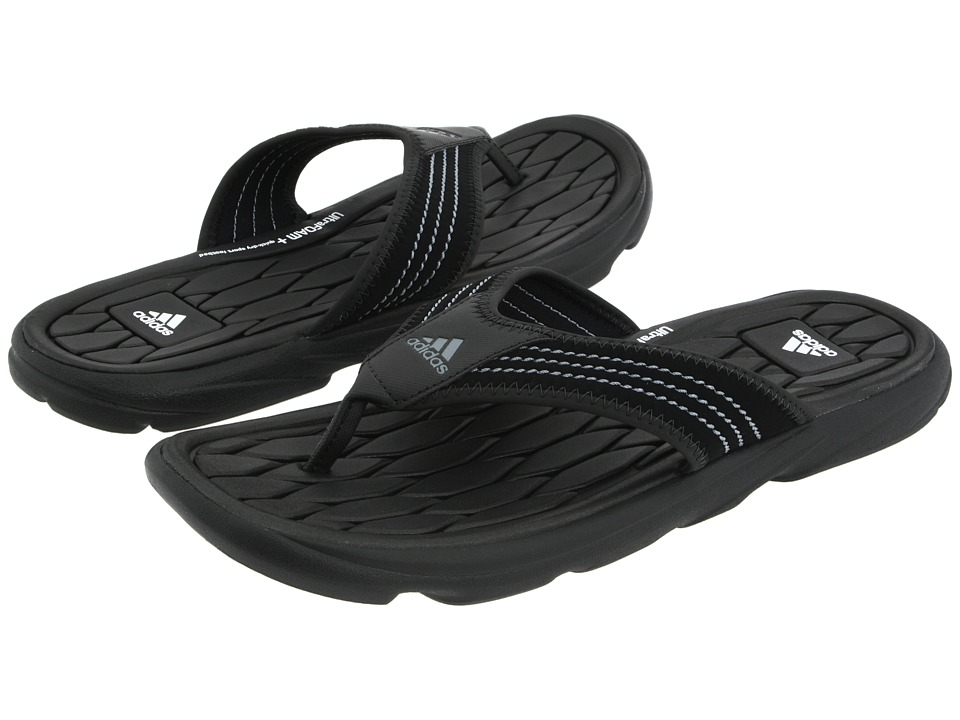 adidas - Raggmo Thong SC (Black/Medium Lead/White) Men's Shoes