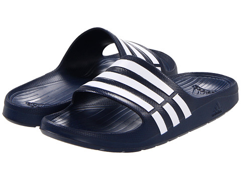 adidas - Duramo Slide (New Navy/White/New Navy) Men