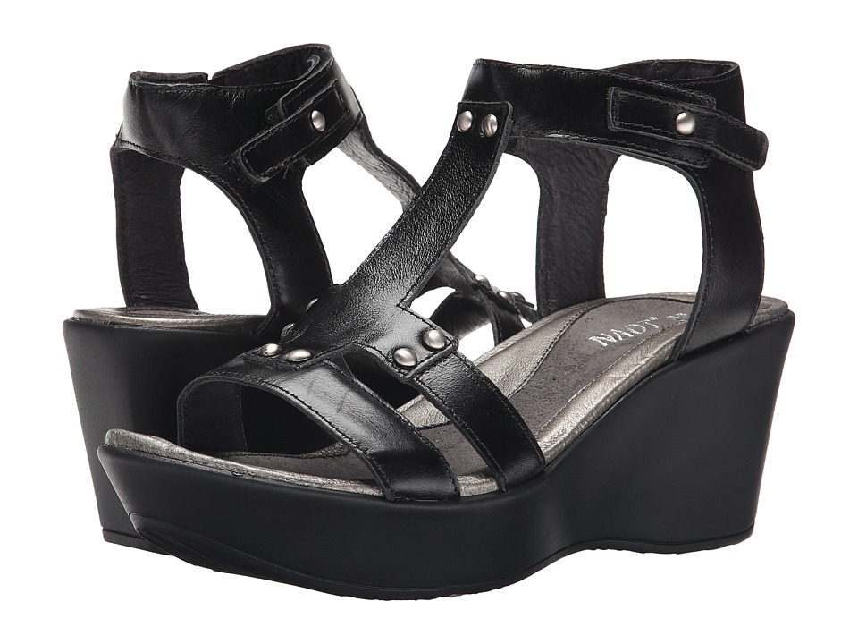 Naot - Valencia (Black Madras Leather) Women's Sandals