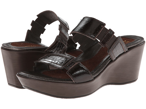 Naot Footwear - Treasure (Espresso w/ Brown Croc Print) Women's Sandals