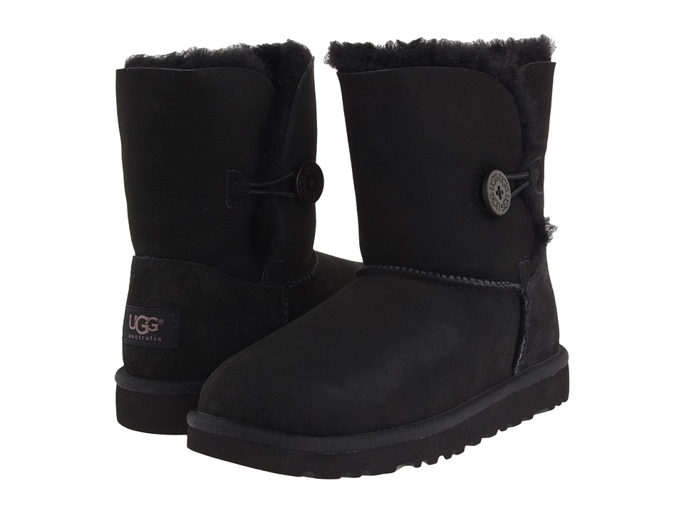 UGG Kids - Bailey Button (Little Kid/Big Kid) (Black) Girls Shoes