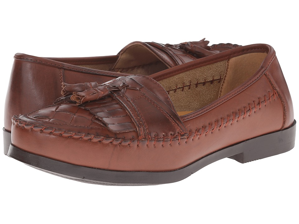 Deer Stags - Herman (Dark Maple Burnished Leather) Men's Slip on Shoes