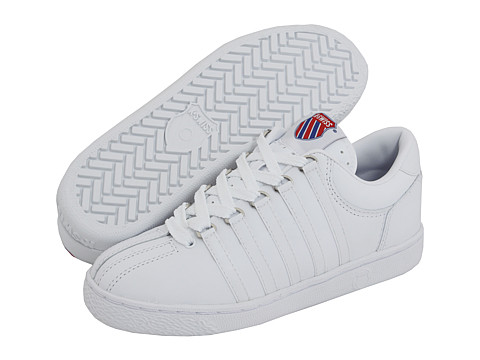 K-Swiss Kids - Classic Leather Tennis Shoe Core (Big Kid) (White) Kids Shoes
