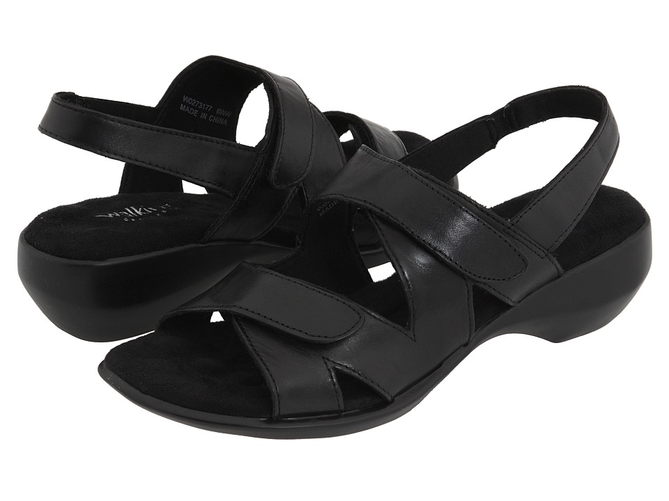 Walking Cradles - Lark (Black Leather) Women's Sandals