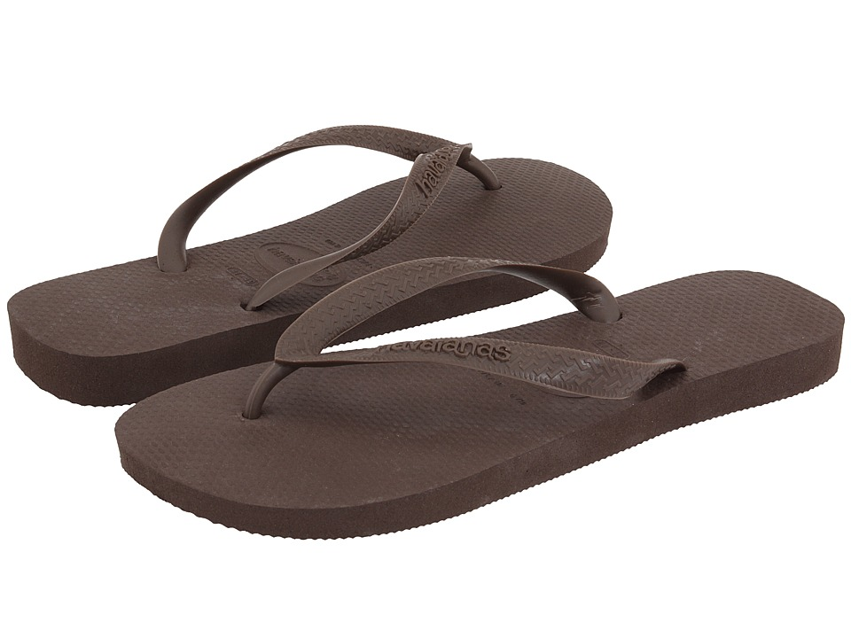 Havaianas - Top Flip Flops (Dark Brown) Men's Sandals