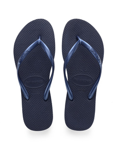 SALE! $16.99 - Save $9 on Havaianas Slim Flip Flops (Navy) Footwear - 34.65% OFF $26.00
