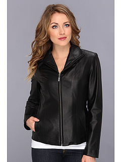 SALE! $346.99 - Save $348 on Cole Haan Lamb Leather Zip Front Jacket (Black) Apparel - 50.07% OFF $695.00