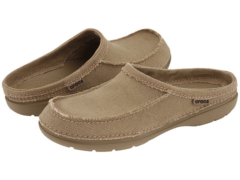 Crocs - Santa Cruz Clog (Khaki/Khaki) Men's Clog Shoes