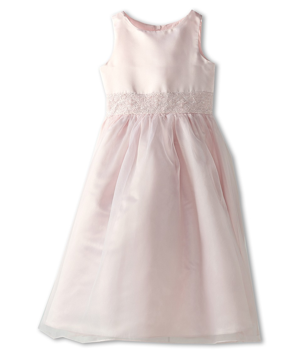 Us Angels - Crystal Band Dress (Big Kids) (Blush Pink) Girl