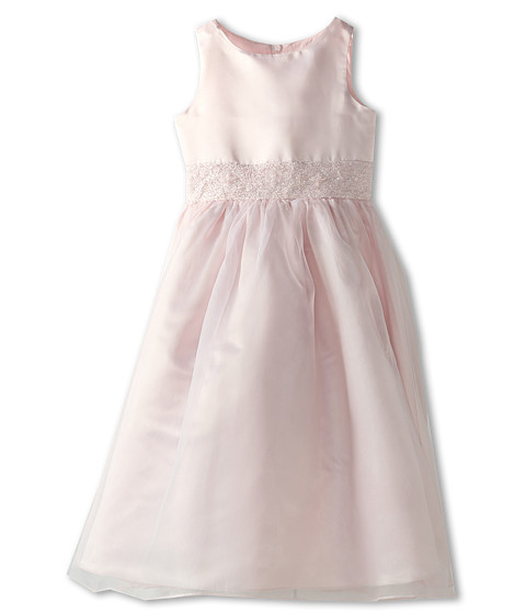 Us Angels - Crystal Band Dress (Big Kids) (Blush Pink) Girl's Dress