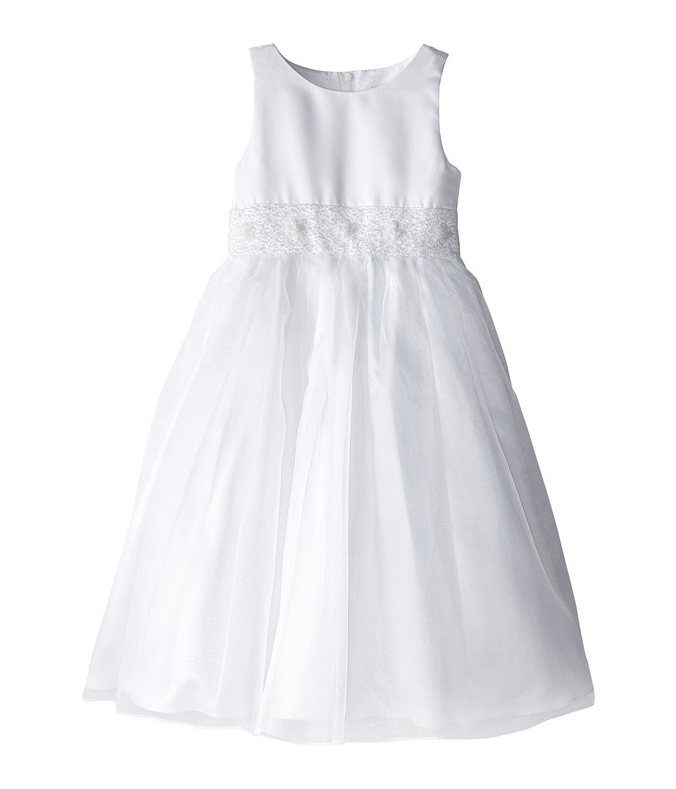 Us Angels - Crystal Band Dress (Big Kids) (White) Girl's Dress