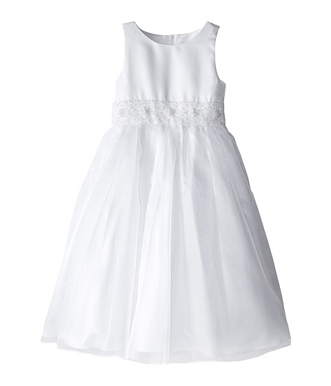 Us Angels - Crystal Band Dress (Big Kids) (White) Girl