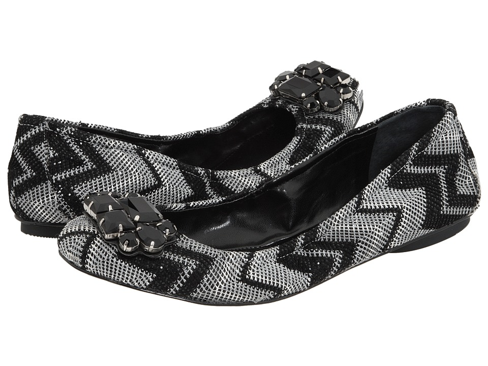 Enzo Angiolini - Kalliope (Black Glitter Fabric) Women's Dress Flat Shoes