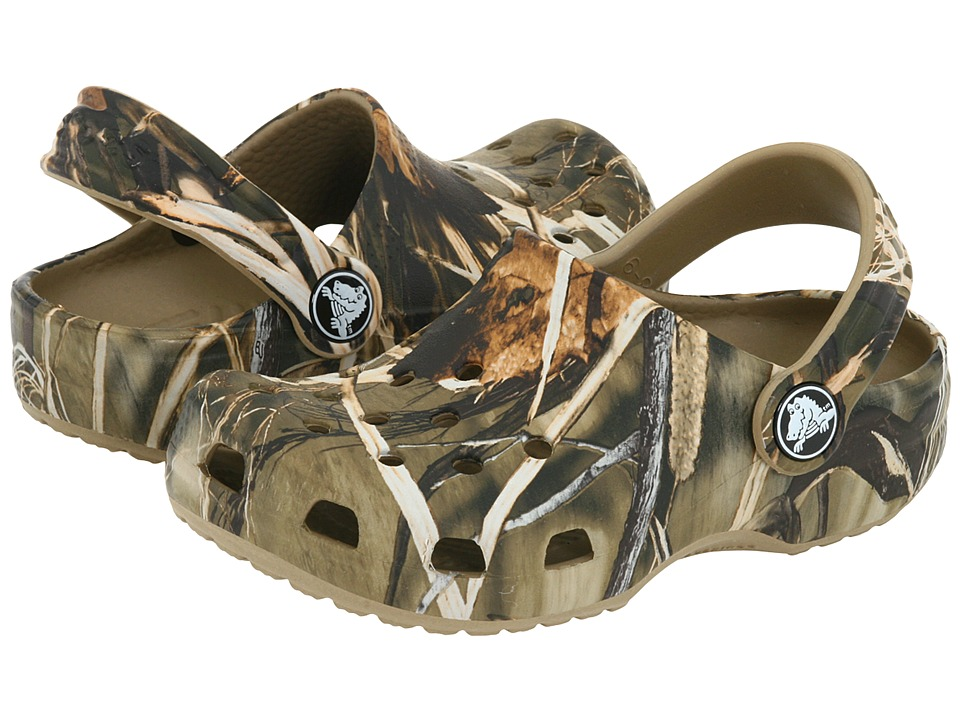 Crocs Kids - Classic Realtree (Toddler/Little Kid) (Khaki) Boys Shoes