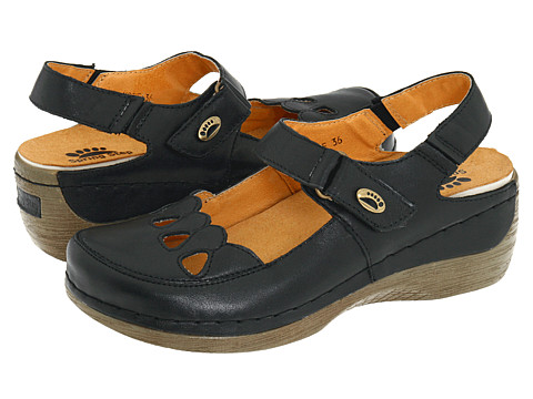 Spring Step - Hope (Black Leather) Women
