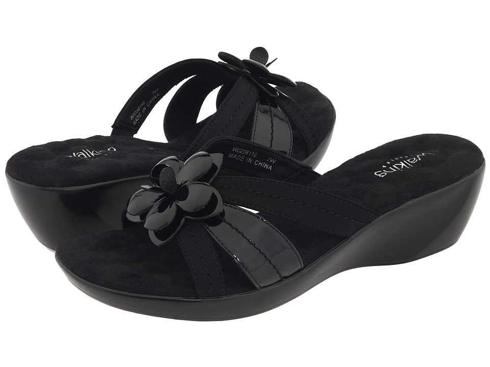Walking Cradles - Cali (Black Patent/Micro) Women