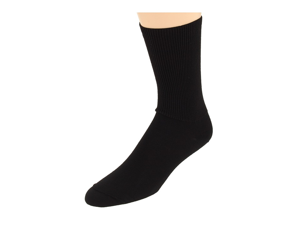 Wigwam - Diabetic Walker 3-Pair Pack (Black) Crew Cut Socks Shoes