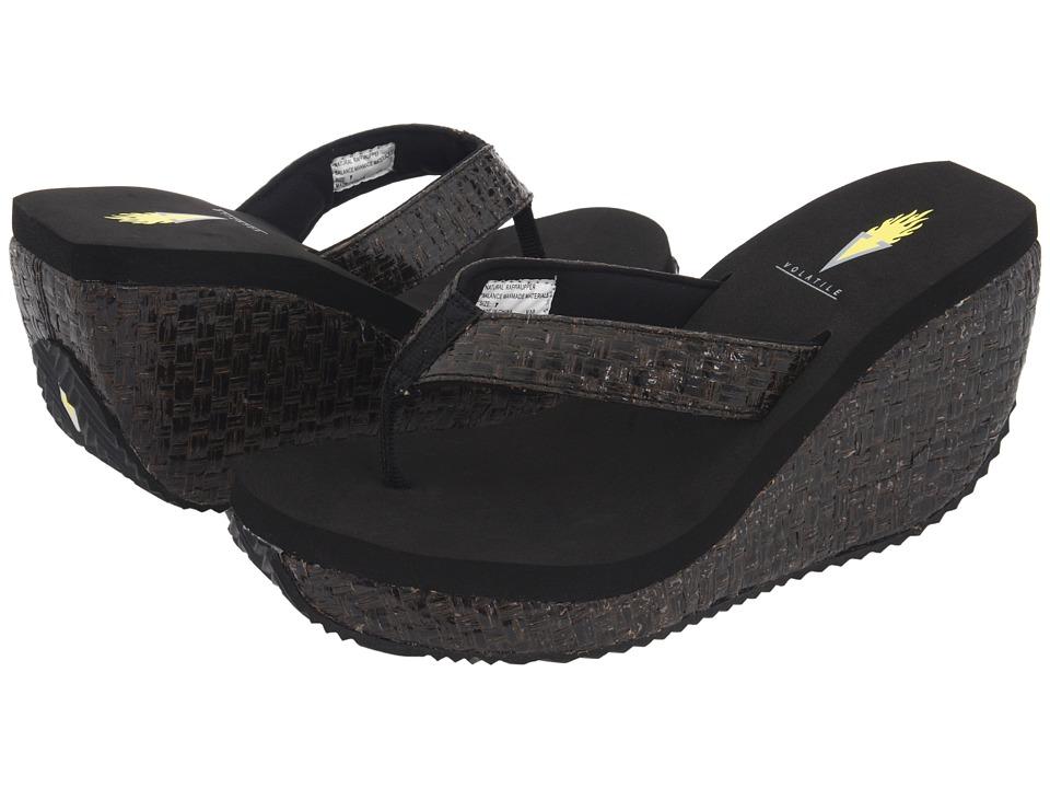 VOLATILE - Cha-ching (Black) Women's Sandals