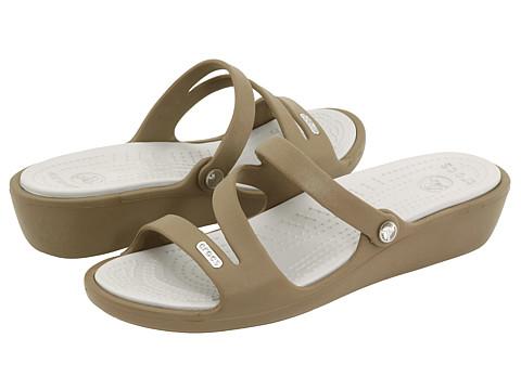 Crocs - Patricia (Khaki) Women's Wedge Shoes