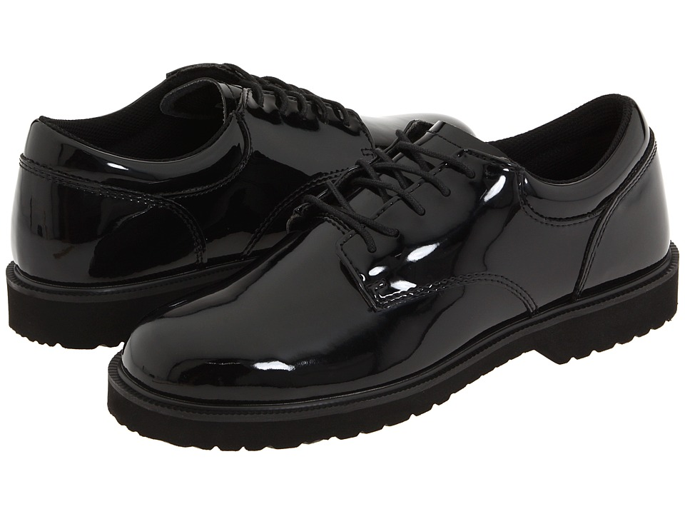 Bates Footwear - High Gloss Uniform Oxford (Black) Men's Dress Flat Shoes