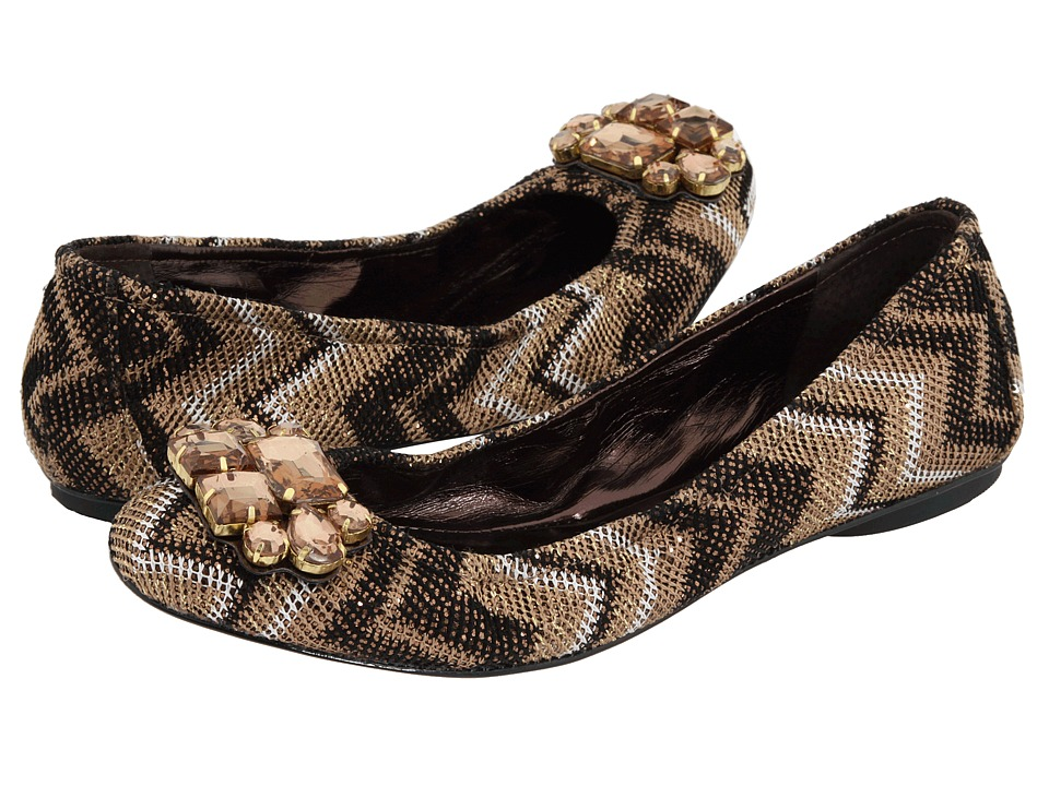 Enzo Angiolini - Kalliope (Bronze/Gold Glitter) Women's Dress Flat Shoes