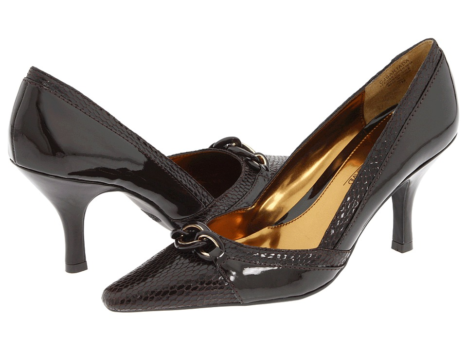 Circa Joan & David - Sartada (Dark Brown/Dark Brown Reptile) Women's 1-2 inch heel Shoes