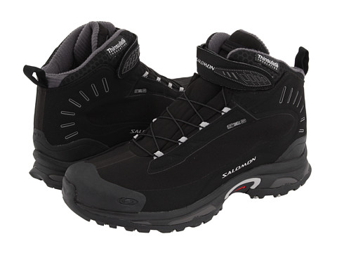 Salomon - Deemax 2 Dry (Black/Black/Aluminum) Men's Cold Weather Boots