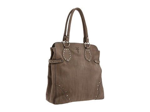 Frye - Vintage Stud Tote (Grey Tumbled Leather) Tote Handbags