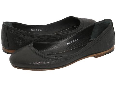 Frye - Carson Ballet (Black Leather) Women's Flat Shoes