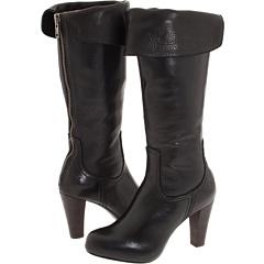 Frye Miranda Back Zip (Black Leather) Footwear