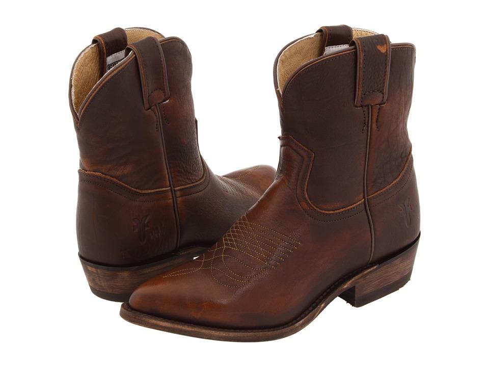 Frye - Billy Short (Dark Brown Calf Shine) Cowboy Boots
