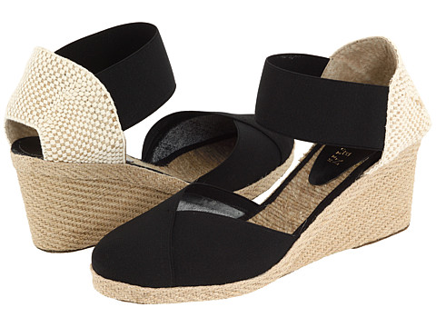LAUREN by Ralph Lauren - Charla (Black) Women's Wedge Shoes