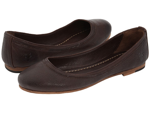 Frye - Carson Ballet (Dark Brown Leather) Women's Flat Shoes
